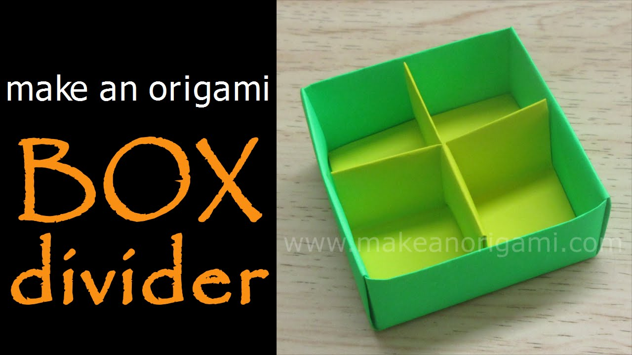 Make An Origami Box Divider