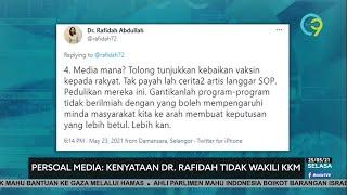 Kenyataan Dr Rafidah Tidak Wakili KKM