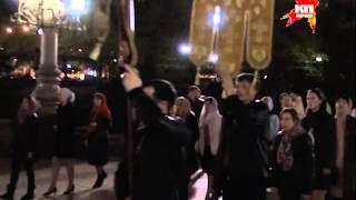 Крестный ход в донецком Спасо-Преображенском кафедральном соборе