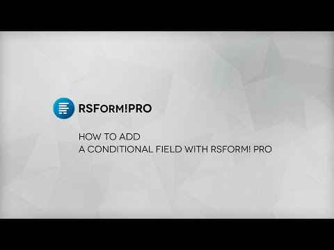 How To Add Conditional Fields To RSForm! Pro