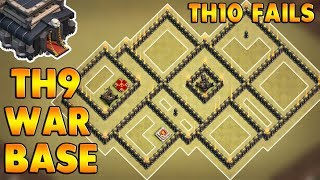 New Best Town Hall 9 ( TH9 ) War Base 2017 | Anti 3 Star | TH10 Fails | 6 Replays | Clash Of Clans