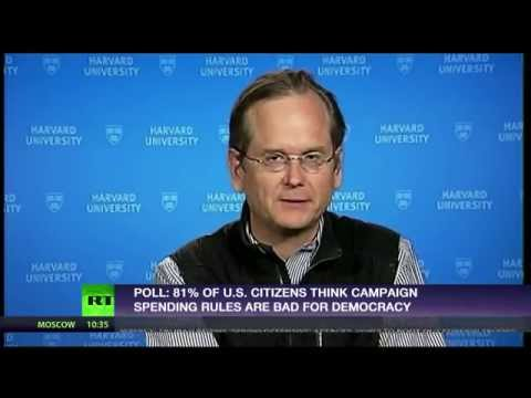 Lawrence Lessig: 'US system corrupt, rich have more say'