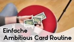 Einfache Ambitious Card Routine / ACR (Kartentrick Tutorial/Erklärung German/Deutsch)