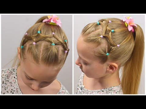 CUTE & EASY HAIRSTYLE With PIGTAILS And ELASTICS By LittleGirlHair #100 (13+)