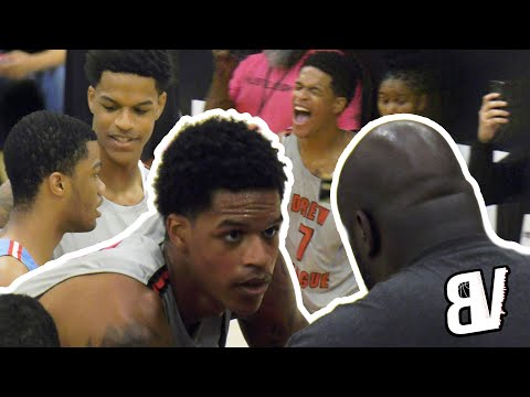 Shareef O'Neal Drew League DUNK & BLOCK PARTY VS Cassius Stanley! Shaq Coaches Reef In HYPE Game!