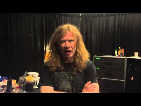 Mirá el extraño saludo del cantante de Megadeth para los neuquinos