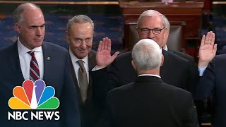 Vice President Mike Pence Swears In Newly Elected Senators | NBC News