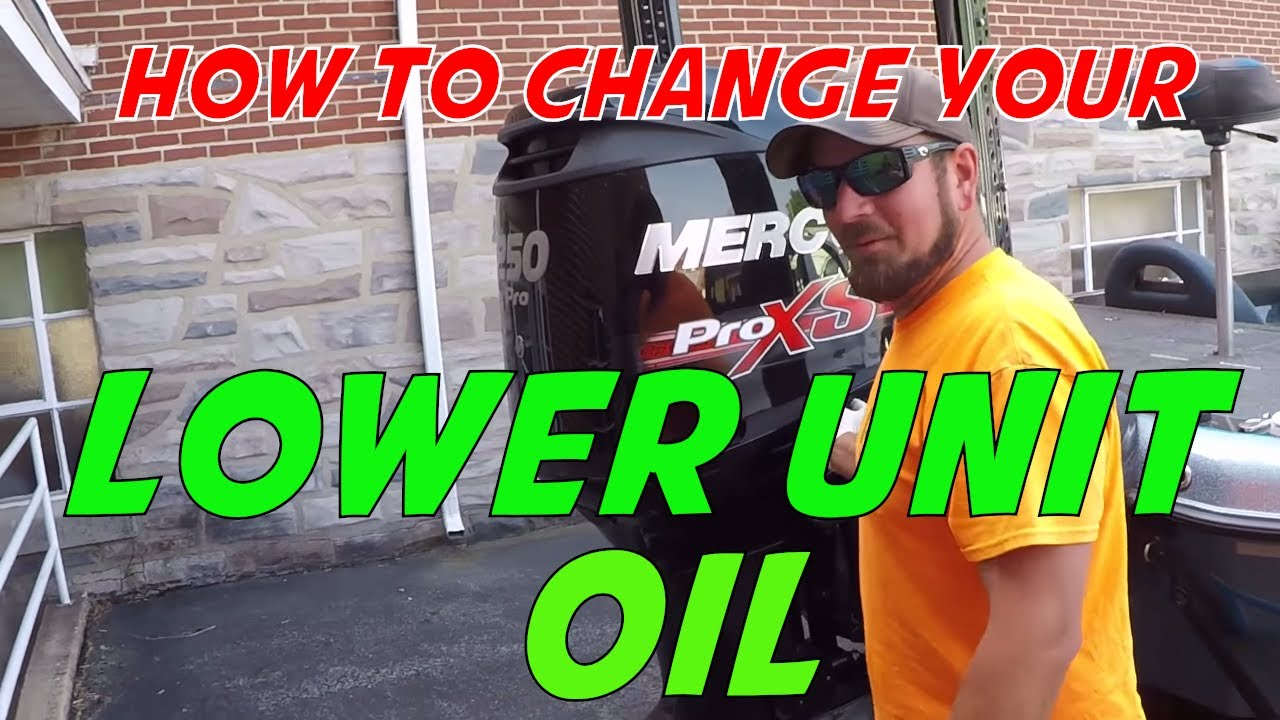 How to change lower unit oil in a Mercury Motor - Changing your oil in a  Mercury Pro XS