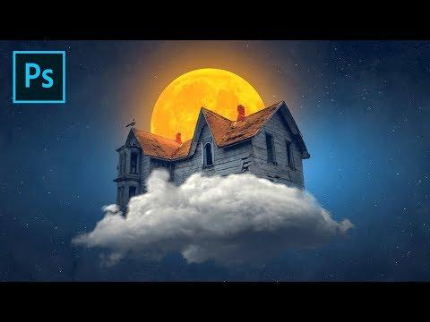 Photoshop Tutorial - Witch's House Fantasy Photo Manipulation Tutorial thumbnail