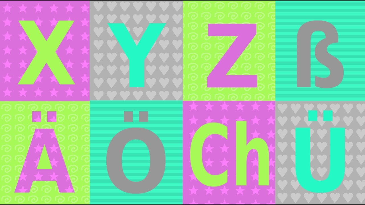 xyz das deutsche alphabet teil 3 umlaute doppellaute scharfes s german pronunciation. Black Bedroom Furniture Sets. Home Design Ideas