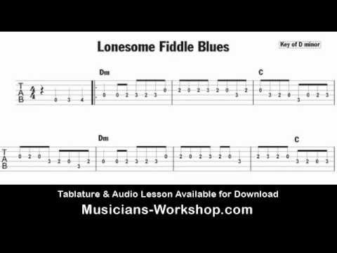 Lonesome Fiddle Blues Guitar Lesson Tab Audio Fastslow Youtube