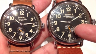 Comparing the 40mm Shinola Runwell limited edition watch to the 47mm