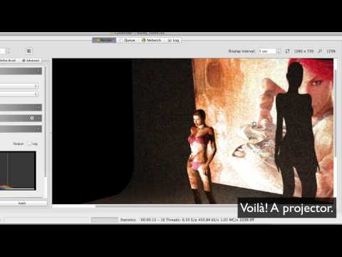 Reality 3 for Poser: Using Projectors
