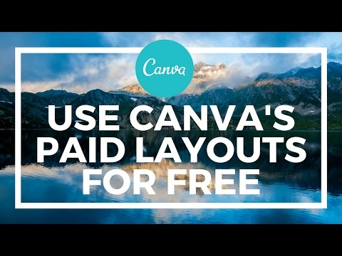 How To Use Canva's Paid Image Layouts For Free
