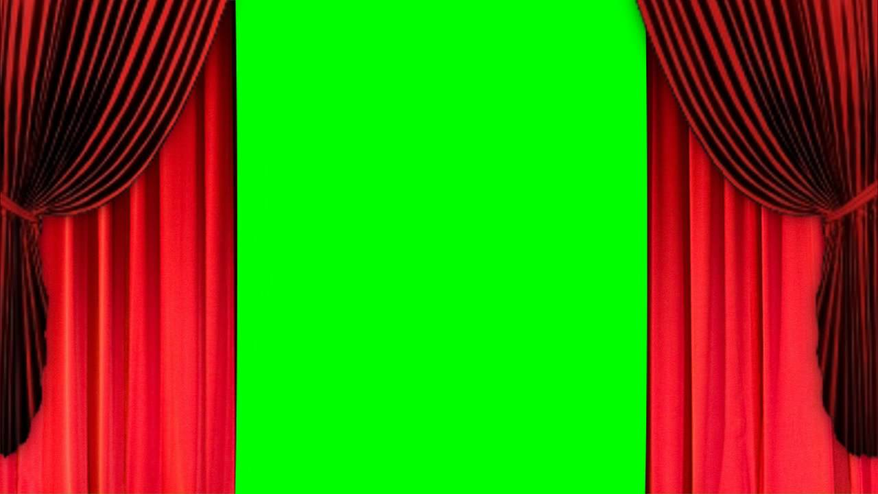 Green stage curtains - Green Stage Curtains 52
