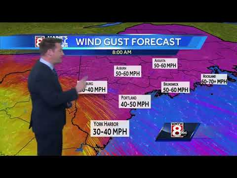 Storm slamming Maine to quickly move out Monday