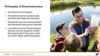 Introduction to Direct Instruction for Schools, 10th November, 2020
