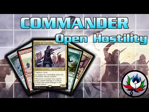 """Open Hostility"" Commander 2016 Deck Tech and Upgrades featuring Saskia the Unyielding – MTG!"
