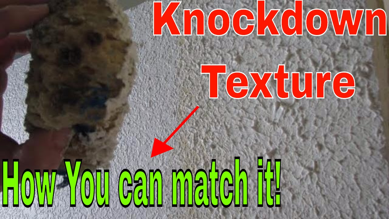 Knockdown Textured Ceiling How To Match Knockdown Texture On A Drywall Repair Youtube