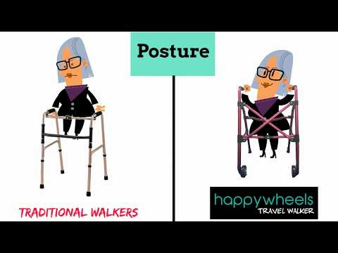 Mobility Aids - What Makes A Good Walker? Introducing the HappyWheels Travel Walker