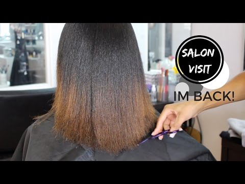 Salon Visit | Straightening Natural Hair, Maintenance, Prote