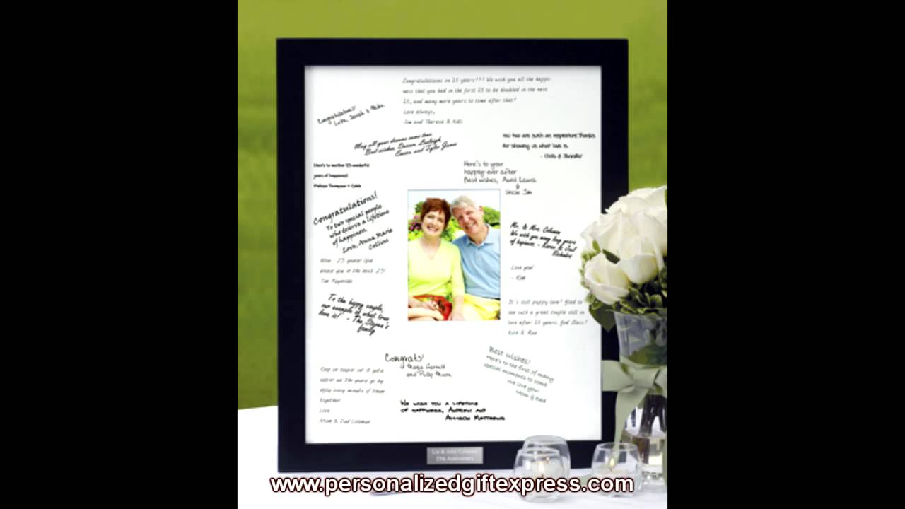 Signature Picture Frame - Another Great Guest Book Alternative - YouTube