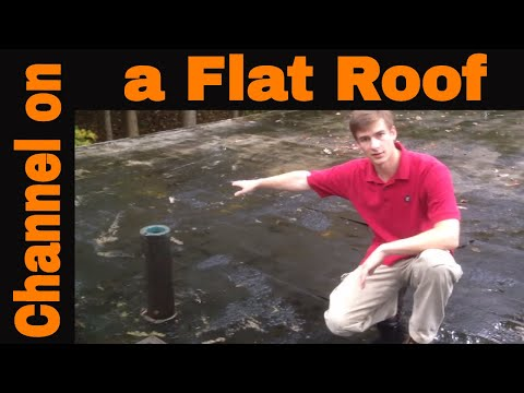 Installing A Channel On A Flat Roof: The Best Draining System On Standing Water