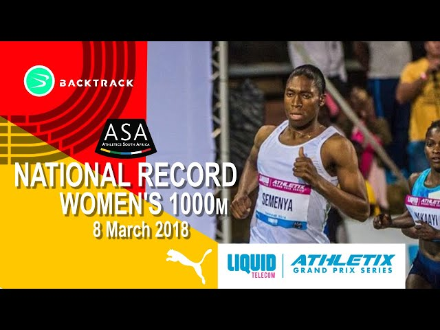 Semenya smashes the SA Women's 1000m record