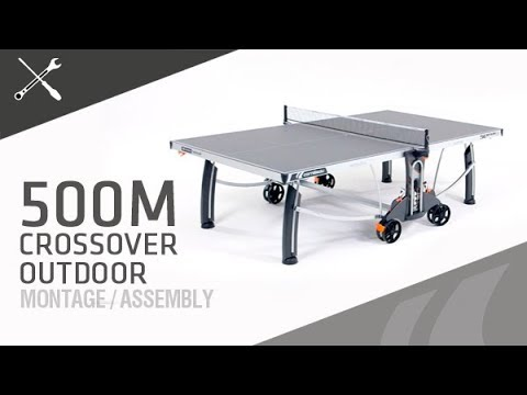"Video: Cornilleau® Tischtennisplatte Premium-Set ""500 M Crossover"""