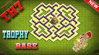 Clash Of Clans Best Town Hall 7 Trophy Base Defense Strategy - 2019 [Slow Build]
