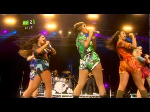 The Saturdays - Up (Isle Of Wight Festival 2010)