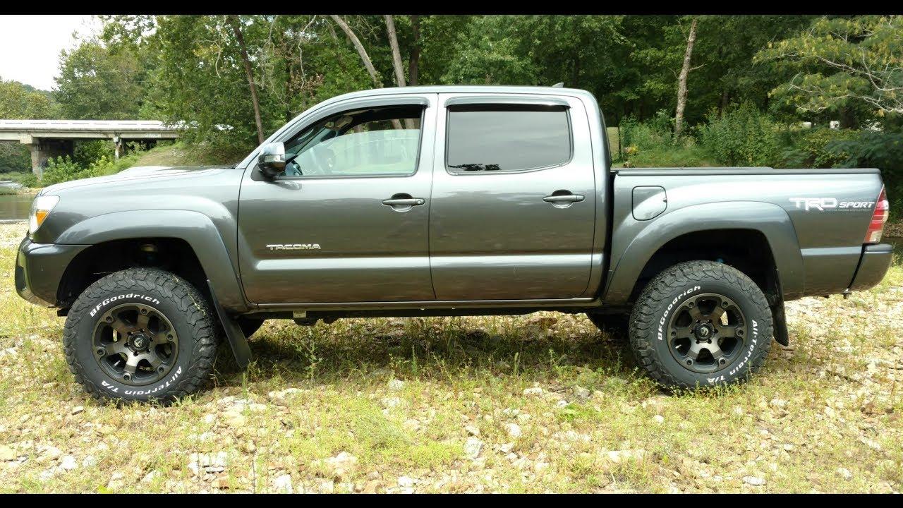 "2007 Toyota Tacoma Leveling Kit >> Pt.1 Tacoma 3"" Lift / Fuel Beast wheels, Before/After, Backspacing/offset - YouTube"