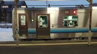 JR板柳駅 五能線 弘前行き到着【GV-E400系・2835D】 2021.01.24