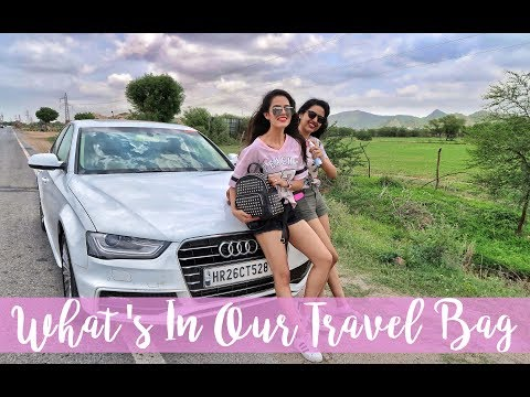 WHAT'S IN OUR TRAVEL BAG | DRIVING DOWN FROM DELHI TO PUNE
