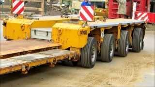 Abfahrt Schwertransporter MAN TGX 41.540 mit Goldhofer Tieflader - Soeren66