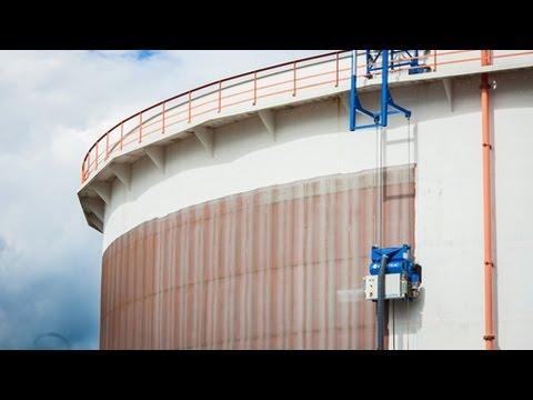 Cleaning Steel Storage Tank Blastrac Ebe 900vmb