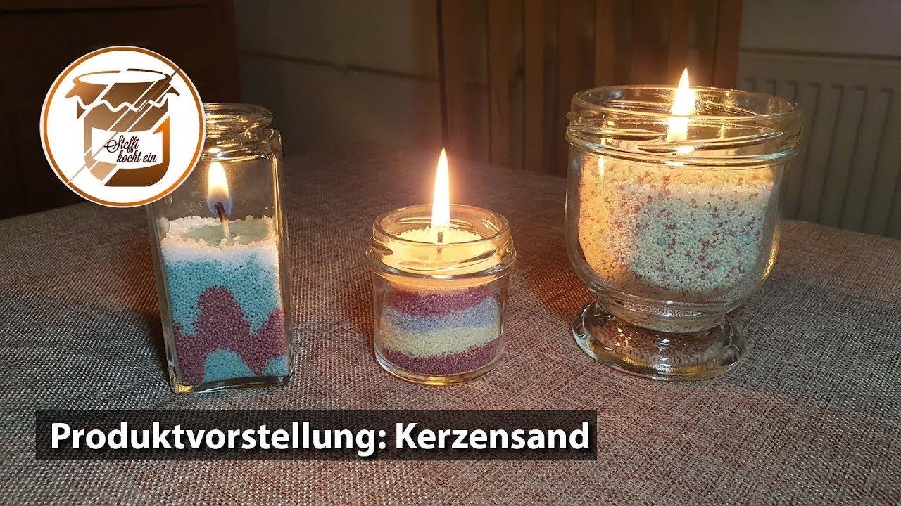 Kerzen Selber Machen Im Glas Mit Kerzensand Youtube