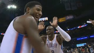 Paul George Lob Off Glass to Grant! Wes...