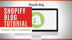 Shopify Blogs | How to Start A Blog on Your Shopify Store