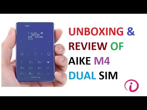 Unboxing and review of AIEK M4 dual sim card phone