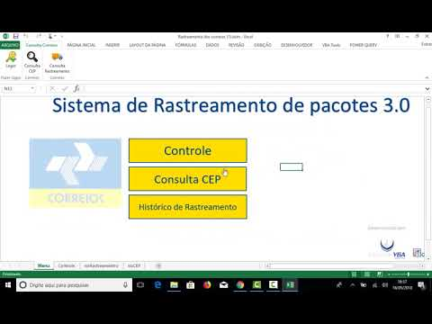 2009b3416cba Planilha Excel Consulta Correios Rastreamento e CEP - YouTube