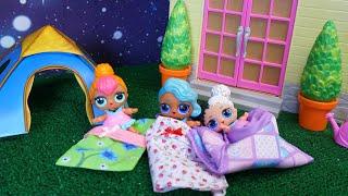 Lol Surprise Dolls Slumber Party Outside!