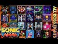 Sonic Mania  - All Boss Fights (including Knuckles-exclusive Bosses) + Secret/True Ending