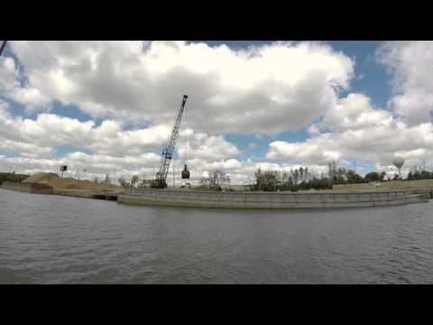 B-Line on the River - Cranes and Barges