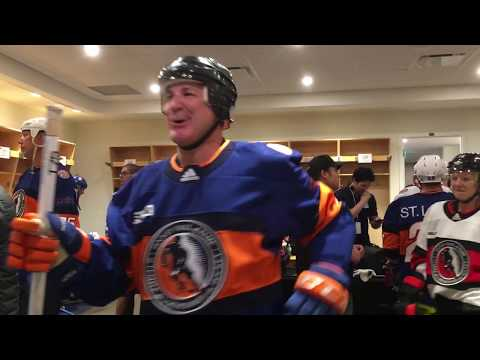 2018 NHL Hockey Hall of Fame Legends Classic Game! In the dressing room with the superstar players!