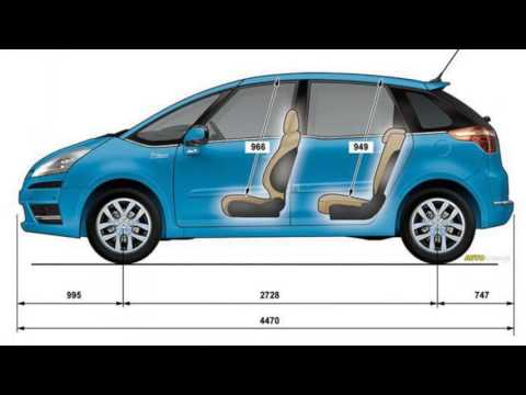citroen c4 picasso dimensions youtube. Black Bedroom Furniture Sets. Home Design Ideas