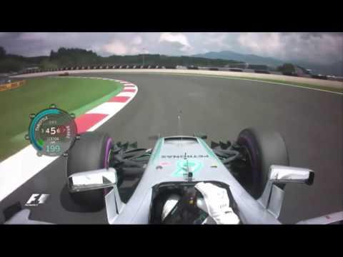 Onboard pole position lap Austria 2016 Lewis Hamilton F1 Austrian GP