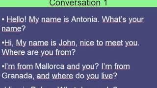 conversación presentación en inglés
