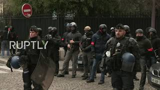 LIVE: Anti-Macron demonstration at the Elysee