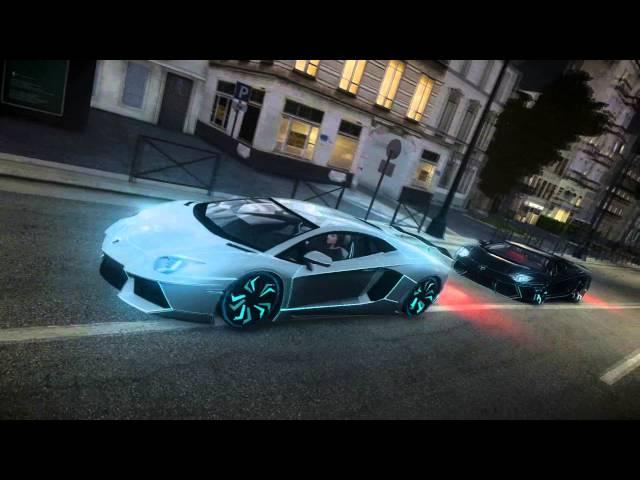 Lamborghini Aventador TRON - French Riviera ( HD )
